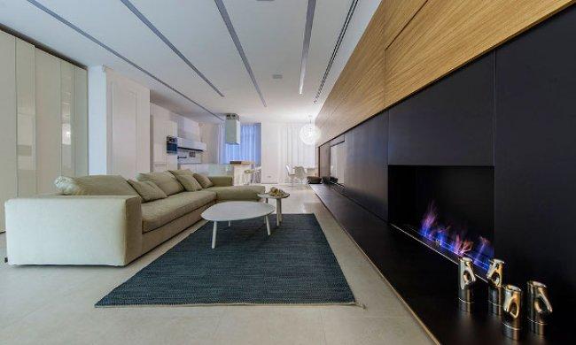 Un moderno apartamento diseñado para una joven familia